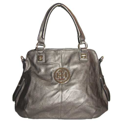 New York Satchel Handbag Pewter
