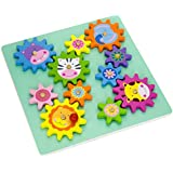 Vortigern #51031 - Wooden Spinning Gears & Cogs Puzzle Cute Animal Themed Activity