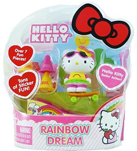 Hello Kitty Rollin' Action Mini Figure- Rainbow Dream - 1