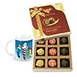 Delicious Chocolate Box With Christmas Mug - Chocholik Luxury Chocolates