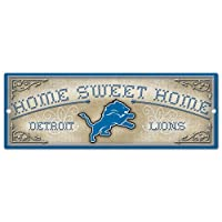 Detroit Lions Home Sweet Home 6x17 Wood Sign