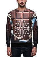 Match Men's Hip Hop 3D Printing Graphic Sweatshirts #LK