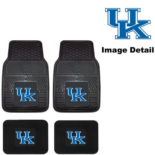 UK University of Kentucky Wildcats Front & Rear Car Truck SUV Vinyl Car Floor Mats - 4PC (Kentucky Wildcats Car Mats compare prices)
