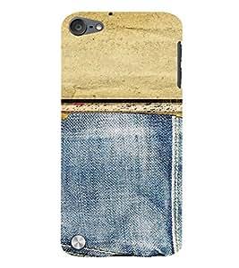 PrintVisa Denim Pattern 3D Hard Polycarbonate Designer Back Case Cover for Apple iPod Touch 5