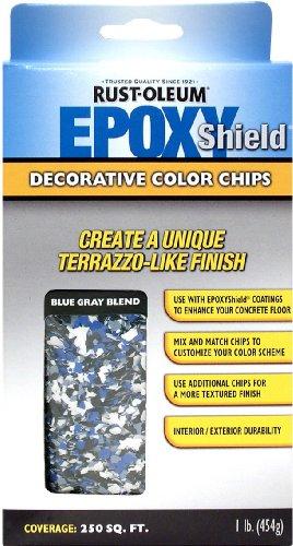 Rust-Oleum 238469 EPOXYShield Decorative Color Chips,  Blue Gray Blend