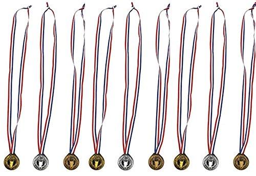 Torch award Medals (3 Dozen) - Bulk - Gold, silver, and bronze Olympic Style Award medals (Medals Gold Silver Bronze compare prices)