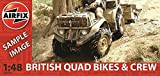 Airfix 1:48 British Quad Bikes and Crew Classic Model Kit by Airfix