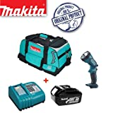 MAKITA BML185 18V Cordless Torch Plus 18V BL1830 Battery & DC18RA Charger with Tool Bag (831278-2)