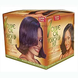 Vitale Olive Oil Touch Up Kit Conditioning No Lye Relaxer System Super