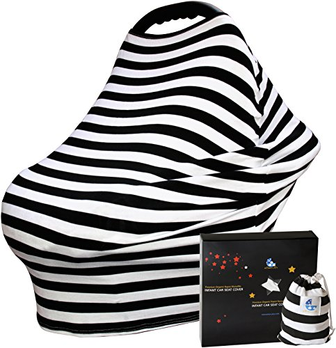 Baby Car Seat Covers - Winter & Summer Protection for Boys or Girls - Infant Carseat Canopy Cover (Jj Cold Car Seat Cover compare prices)
