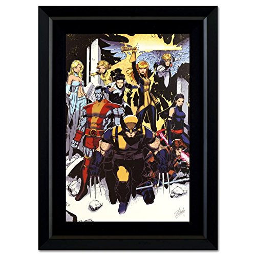 STAN LEE Signed Original Marvel Artwork Comics X-Men canvas framed COA Wolverine Gambit Storm (Marvel Signed Framed compare prices)