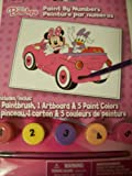 Disney Minnie Mouse Bow-tique Paint by Number Kit ~ Minnie Mouse and Daisy in Car (5.75 x 8)