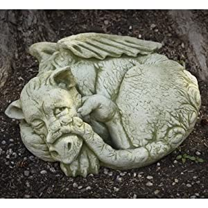 Campania International Peep The Dragon Cast Stone Garden Statue Copper Bronze - S-333-CB