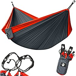 Legit Camping Hammock - Portable Double Travel, Hiking, and Backpacking Parachute Hammocks