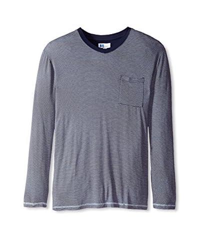 Majestic International Men's Modal Knit Fine Line Long Sleeve Top