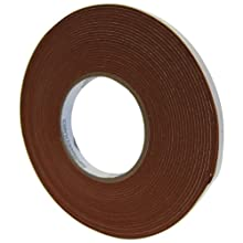 "Saint-Gobain 100S Strip-N-Stick Silicone Gasket Tape, 15' Length, 1"" Width, 3/16"" Thick (Pack of 1)"