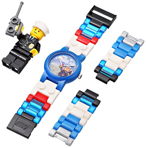 LEGO Kids' 4291329 City Policeman Watch With Minifigure