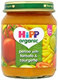 HiPP Organic Stage 1 from 6+ Months Penne with Tomato and Courgette 6 x 125 g (Pack of 2, Total 12 Pots)