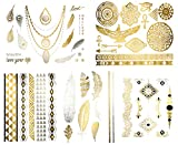 Beautiful-Metallic-Tattoos-Over-50-Stylish-Designs-Silver-Black-and-Gold-Temporary-Metallic-Tattoos-Stylish-Fake-Shimmer-Jewelry-Including-Bracelets-Necklaces-Feathers-Doves-Dreamcatcher-Arrows-Stars-