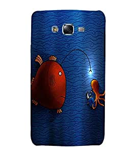 printtech Funny Fish Underwater Back Case Cover for Samsung Galaxy J7 / Samsung Galaxy J7 J700F