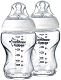 Tommee Tippee Closer to Nature Glass Bottles - Unisex - 9 oz - 2 ct
