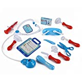 Medical Doctor Hospital Kit Playset For Kids - 16 Pretend Play Tools Toy Set