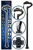 Ergocane By Ergoactives. Fully-adjustable Ergonomic Cane (Black/Glossy)