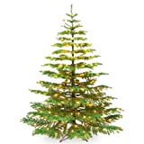 Barcana 9-Foot Noble Fir Ready Trim Christmas Tree with 800 Clear Mini Lights