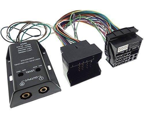 Verstrker-Adapter-2-Kanal-HIGH-LOW-VW-OPEL-BMW-SEAT-SKODA-FORD-Endstufe-Cinch