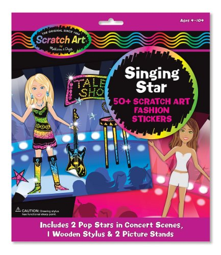 Melissa & Doug Singing Star Scratch Art Fashion Sticker Scenes
