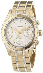 DKNY Damen-Armbanduhr Chronograph Quarz Edelstahl beschichtet NY8707