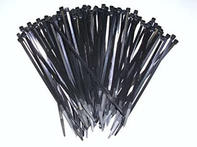 "Joy Fish 14.6"" Heavy Duty Nylon Cable Ties, 50 lb Test (Black, 100PC)"