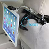 iKross Rotation Car Mount Backseat Headrest Tablet Mount Holder for 7 to 10.2 inch Tablet PC / iPad