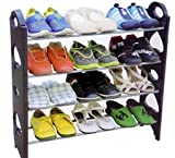 #10: 4 Tier Free Simple Standing Home Organizer Stackable Shoe Rack