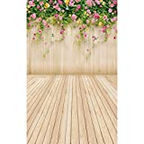 Mohoo 5x7FT Flower Wall Studio Silk Backdrop Photography Prop Photo Background for Photo Studio Props 1.5x2.1m (update meterial)