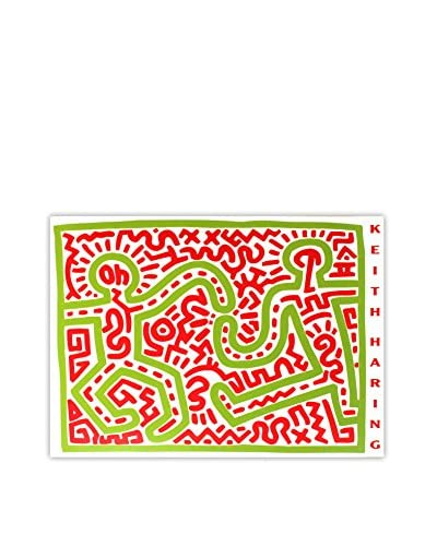 "Keith Haring ""Untitled (1983)"" Unframed Poster, Red/Green"