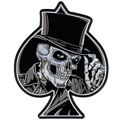 """Hot Leathers Top Hat Skull Patch (4"""" Width x 5"""" Height) by Hot Leathers"""