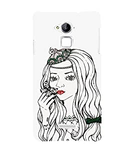 EPICCASE Cute butterfly girl Mobile Back Case Cover For Coolpad Note 3 Lite (Designer Case)