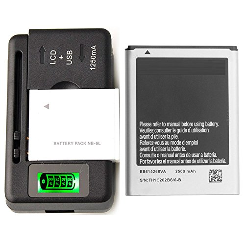 Genuine Original Battery Eb615268Va Eb615268Vu Oem + Universal Led Charger For Samsung Galaxy Note Sgh-I717 / Samsung Galaxy Note Sgh-T879 / Samsung Galaxy Note Gt-N7000 / Samsung Galaxy Note Gt-I9220 2500 Mah