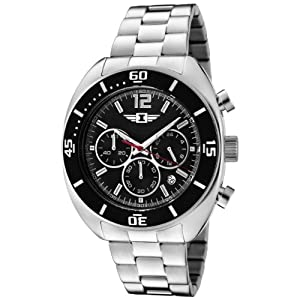 I By Invicta Men's 90232-001 Chronograph Black Dial Stainless Steel Watch