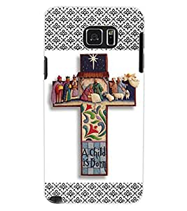 ColourCraft Holy Cross Design Back Case Cover for SAMSUNG GALAXY NOTE 5