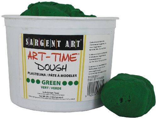 sargent-art-85-3366-3-pound-art-time-dough-green