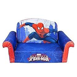 Marshmallow Childrens Furniture - 2 in 1 Flip Open Sofa - Spiderman