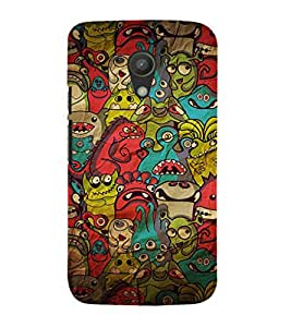 EPICCASE Demon Pattern Mobile Back Case Cover For Moto G 2nd Gen (Designer Case)