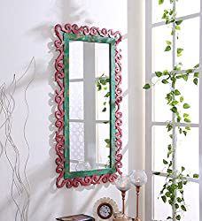999Store wooden hand crafted handmade painted Decorative Wall Mirror multicolour Wall Mirror