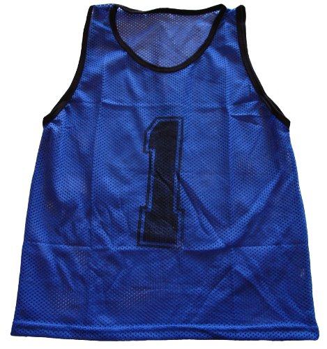 Workoutz Numbered Adult Blue Scrimmage Vest Set  Soccer Pinn
