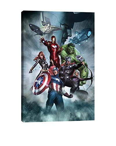 The Avengers & Loki Gallery-Wrapped Canvas Print