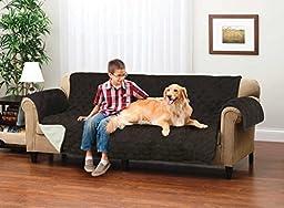 Deluxe Reversible Micro Suede Sofa Furniture Protector, Coffee / Tan