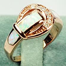buy Jacob Alex Ring Cz Opal Rings Rose Gold Filled Moissanite Unisex Size 7 Wedding Jewelry