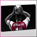 S268 Arsenal Dennis Bergkamp Throw In Framed Ready To Hang Canvas Print, Sport, Pop Street Wall Art, Picture